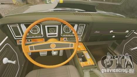 Chevrolet Camaro Z28 для GTA 4 вид изнутри