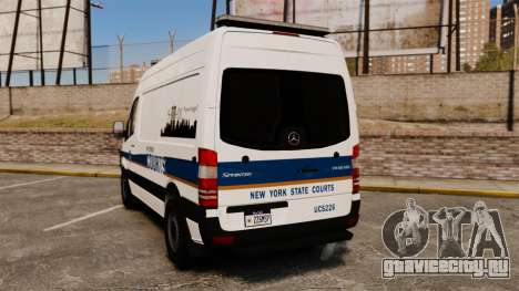 Mercedes-Benz Sprinter 2500 Prisoner Transport для GTA 4 вид сзади слева