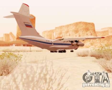Ил-76ТД v2.0 для GTA San Andreas вид сзади