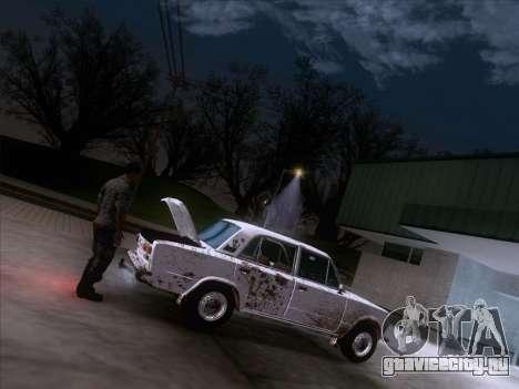 ВАЗ 21011 Дачная для GTA San Andreas вид снизу
