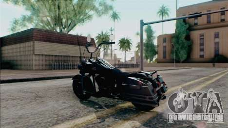 Harley Davidson Road King для GTA San Andreas вид сзади слева