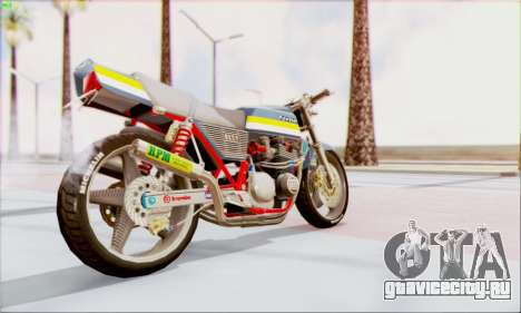 Kawasaki Z-400FX Custom для GTA San Andreas вид слева
