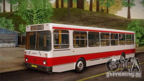ЛиАЗ 5256.00 Скин-пак 2 для GTA San Andreas вид сверху