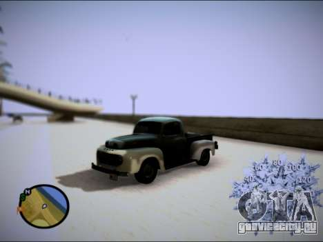 Ford Frieghter 1949 для GTA San Andreas вид сзади