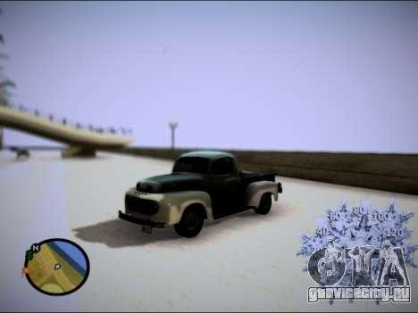 Ford Frieghter 1949 для GTA San Andreas вид сзади