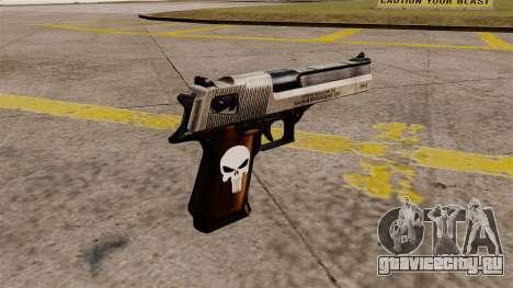Самозарядный пистолет Desert Eagle Punisher для GTA 4 второй скриншот