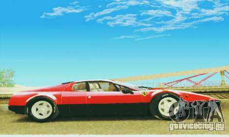 Ferrari 512 BB для GTA San Andreas вид изнутри