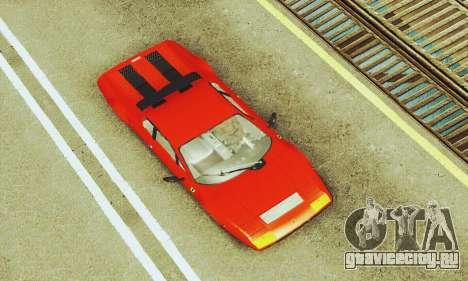 Ferrari 512 BB для GTA San Andreas вид сбоку