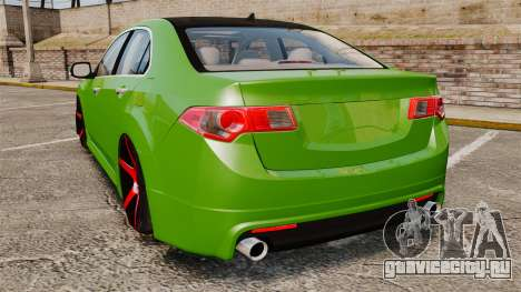 Acura TSX Mugen 2010 для GTA 4 вид сзади слева
