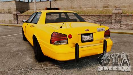 GTA V Gen Vapid LCC Taxi для GTA 4 вид сзади слева