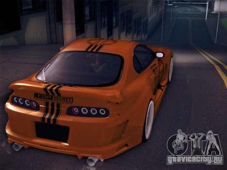 Toyota Supra Top Secret V12 для GTA San Andreas двигатель