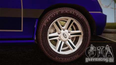 Toyota Land Cruiser 100VX для GTA San Andreas вид сзади слева
