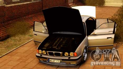 BMW M5 E34 1995 для GTA 4 вид сзади