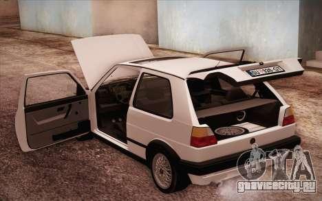 Volkswagen Golf Mk2 GTI для GTA San Andreas вид сбоку