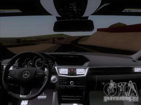 Mercedes-Benz E63 AMG 2011 Special Edition для GTA San Andreas вид сверху
