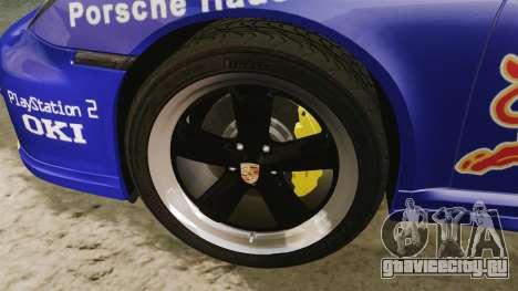 Porsche 911 Sport Classic 2010 Red Bull для GTA 4 вид сзади