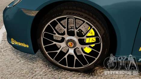 Porsche 911 Turbo 2014 [EPM] Alpinestars для GTA 4 вид сзади