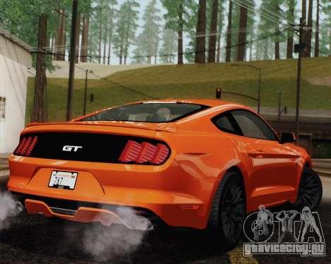 Ford Mustang GT 2015 для GTA San Andreas двигатель