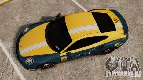 Porsche 911 Turbo 2014 [EPM] Alpinestars для GTA 4 вид справа