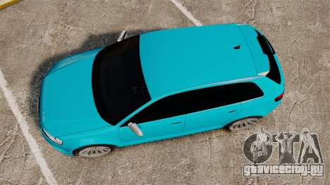 Audi RS3 Sportback [Typ 8PA] 2011 для GTA 4 вид справа