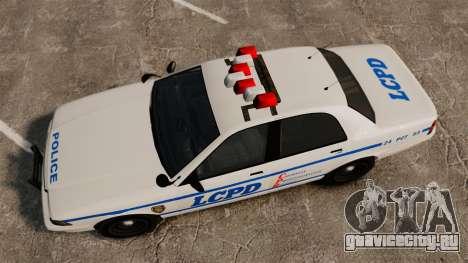 GTA V Police Vapid Cruiser LCPD для GTA 4 вид справа