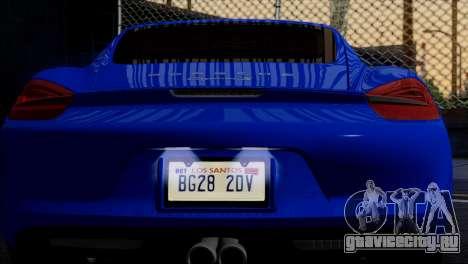 Porsche Cayman S 2014 для GTA San Andreas колёса