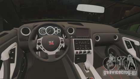 Nissan GT-R SpecV 2010 для GTA 4 вид изнутри