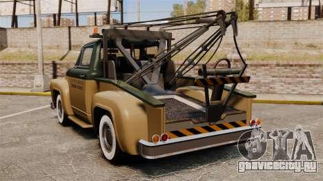 Towtruck Restored для GTA 4 вид сзади слева