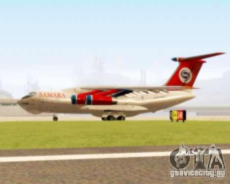 Ил-76ТД Самара для GTA San Andreas вид сзади слева