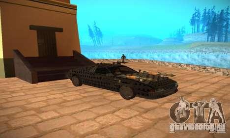 Cheetah Zomby Apocalypse для GTA San Andreas вид сзади