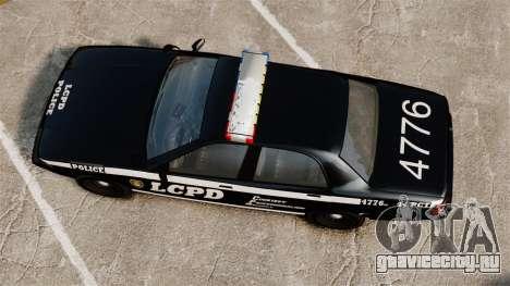 GTA V Vapid Police Cruiser [ELS] для GTA 4 вид справа