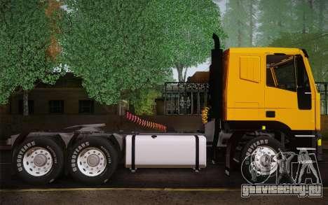 Iveco EuroTech 6x4 Doors для GTA San Andreas вид сзади слева