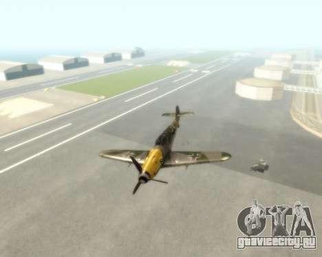 Bf-109 G6 v1.0 для GTA San Andreas вид сзади