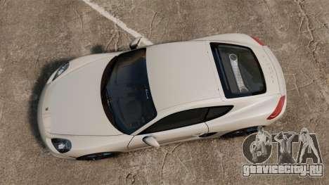 Porsche Cayman S 981C для GTA 4 вид справа