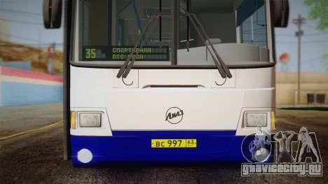 ЛиАЗ 5256.57 2007 для GTA San Andreas вид снизу