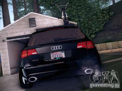 Audi Avant RS6 LowStance для GTA San Andreas вид сбоку