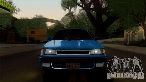 Subaru Legacy 2.0 RS (BC) 1989 для GTA San Andreas вид сзади