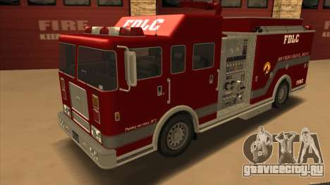 Firetruck HD from GTA 3 для GTA San Andreas