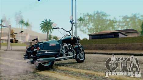 Harley Davidson Road King для GTA San Andreas вид слева