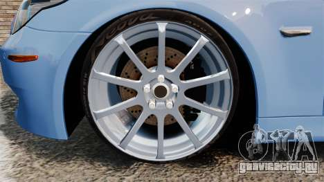 BMW M5 2009 для GTA 4 вид сзади