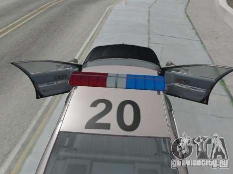 Chevrolet Caprice LAPD 1991 [V2] для GTA San Andreas вид справа