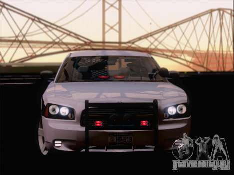 Dodge Charger San Andreas State Trooper для GTA San Andreas вид изнутри