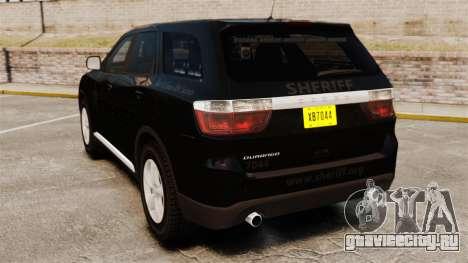 Dodge Durango 2013 Sheriff [ELS] для GTA 4 вид сзади слева