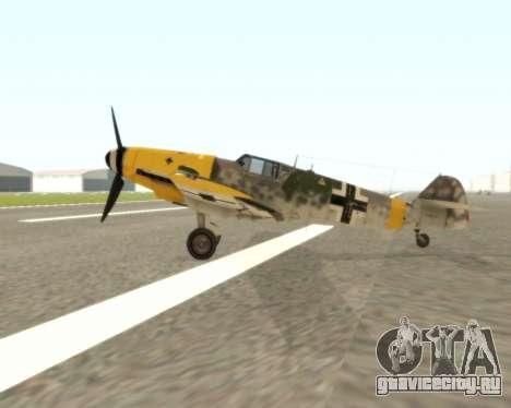 Bf-109 G6 v1.0 для GTA San Andreas вид сзади слева