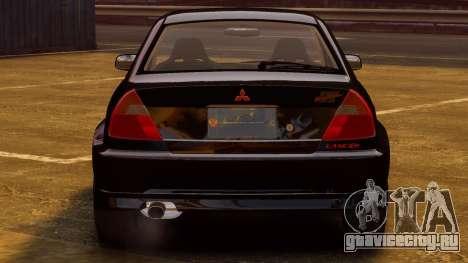 Mitsubishi Lancer Evolution VI GSR 1999 для GTA 4 вид справа