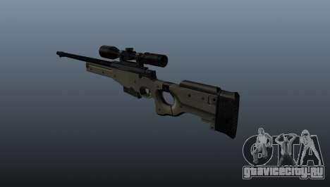 Снайперская винтовка  AI Arctic Warfare Police для GTA 4 второй скриншот