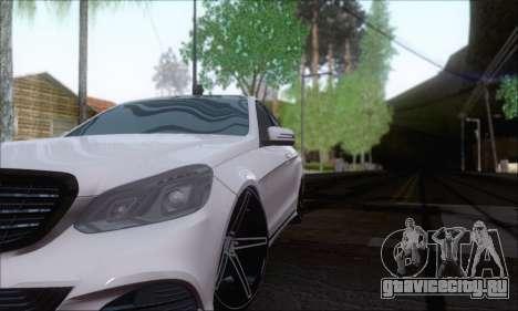 Mercedes-Benz W212 AMG для GTA San Andreas вид сзади
