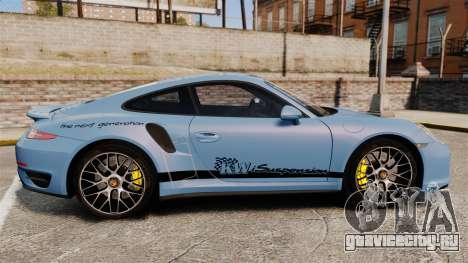 Porsche 911 Turbo 2014 [EPM] KW iSuspension для GTA 4 вид слева