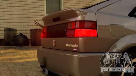 Volkswagen Corrado VR6 1995 для GTA 4 вид изнутри