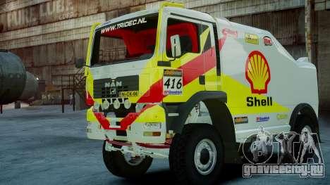 MAN TGA Dakar Truck Shell для GTA 4 вид слева